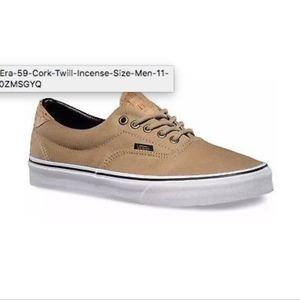 c2be995f82 Vans Shoes - Vans Era 59 Cork Twill Incense Size Men 11 VN000ZM